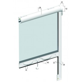 Σήτα κουνουπιέρα κάθετης κίνησης πάχους 38mm για παράθυρο  140cm X 150cm