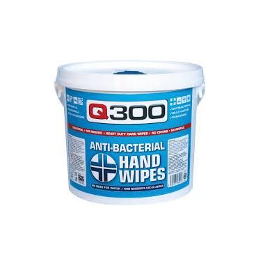 Q300 καθαριστικά πανάκια χεριών (αντιβακτηριακά)