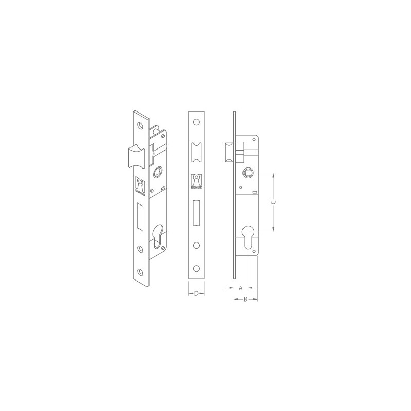 Domus Lock Cylinder For Doors Of Iron And Aluminum 20 25mm