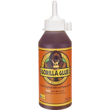 Κόλλα πολυουρεθάνης Original Gorilla glue αδιάβροχη διογκούμενη πολύ δυνατή για εσωτερική και εξωτερική χρήση 250ml