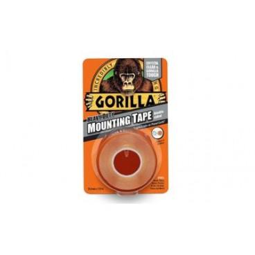 Αυτοκόλλητη ταινία Gorilla διπλής όψης διαφανής με πλάτος 25,4 χιλιοστά μήκος 1,52 μέτρα