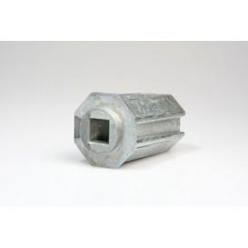 PVC Κούπα  με τετράγωνη τρύπα για μειωτήρα