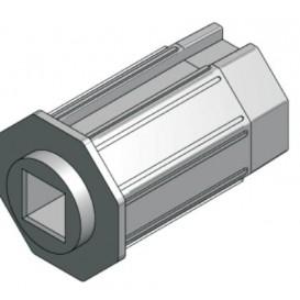 Μεταλλική κούπα με τετράγωνη τρύπα για μειωτήρα για ρολά στόρια (παντζούρια)
