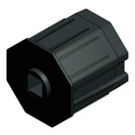 PVC Κούπα με τετράγωνη τρύπα για ρολά στόρια (παντζούρια)