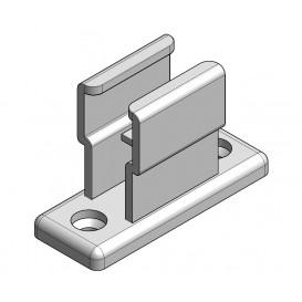 Plastic retaining bracket crank