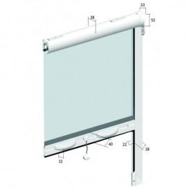 Σήτα κουνουπιέρα κάθετης κίνησης πάχους 38mm για παράθυρο  60cm X 150cm(κομμένη στις ακριβές διαστάσεις που θα μας ζητήσετε )